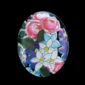 Vintage stiilis klaaskamee vitraaz/40x30mm