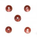 Õrnroosad läbikumavad klaaspärlid 8mm/10tk