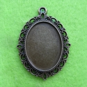 Antique bronze colored frame for cameo