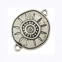 "Antique silver colored connector ""Sun"""