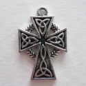 Antique silver colored cross
