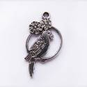 "Antique silver colored pendant ""Parrot"""