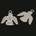 Antiikhõbedane ripats/ lind ja päike