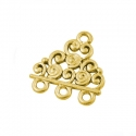 Antique gold colored connecto/ 19,5x17 mm
