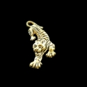 "Antique gold colored pendant ""Tiger"""