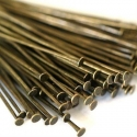 Antique bronze colored headpins