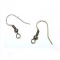Antique bronze colored earring hooks