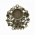 Round shaped vintage cameo