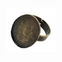 Antiikpronks sõrmuse toorik/25x18 alaga/nr1
