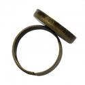 Antiikpronks sõrmuse toorik/18mm alaga