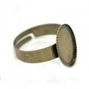 Antiikpronks sõrmuse toorik/alaga 14x10mm