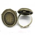 Antiikpronks sõrmuse toorik/alaga18x13mm
