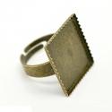 Antiikpronks sõrmuse toorik kandiline/20mm