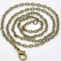 Antique bronze colored chain with a clamp