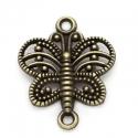 Antiikpronks vintage ühendaja liblikas/17x14mm