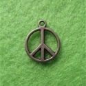 "Antique bronze colored pendant ""Peace"""