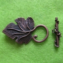 Antique copper colored T-clasp