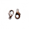 Antique copper colored carabine clasp