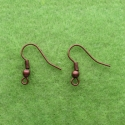 Antique copper plated earring hooks