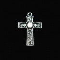 "Silver colored pendant ""Celtic cross"""