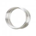 Silver colored prebent wire for a bracelet