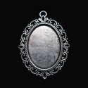 Antique silver colored frame for cameo