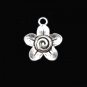 "Silver colored pendant ""Flower"""