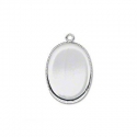 Silver plated frame for cameo