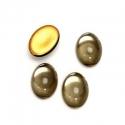 Klaaskamee/14 x 10mm/must-teemant