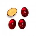 Klaaskamee/14x10mm/rubiini värvi