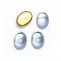 Klaaskamee/14x10mm/hele safiir