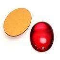 Klaaskamee 25x18x7mm/rubiin