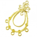 Gold colored earring component/ 44,5x28 mm