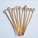 Kuldsed ehtenõelad aasaga/30mm