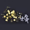 Kulla värvi poltkõrvarõngad/alaga 8mm