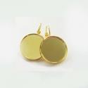 Kullaga kaetud kõrvarõngad alaga12 mm