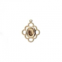 Gold plated frame for cameo