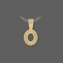 Gold plated pendant frame for cameo