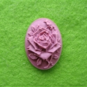 Cameo with a purple rose