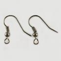 Gray colored earring hooks/ 18 mm