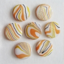 Pärlmutter helmes/kollane-oranzikas/20mm