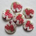 Pärlmutter helmes roosidega/20 mm