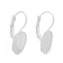 Hõbedased kõrvarõngad alaga/14x10mm