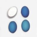 Satiin kamee/sinine/14x10 mm