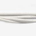 Vahatatud puuvillanöör/valge/2mm/1m