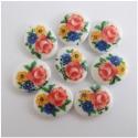Vintage kamee värviliste lilledega/10x8mm